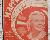 1940's French Song / Sheet Music - Tu M'Apprendas (Will You Teach Me)