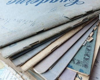 USED Handwritten Student's Composition Book - 1940s and 1950s - Scrapbooking or Altered Art
