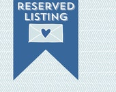 Reserved Listing for Natalie