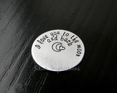 Floating Locket Plate / I Love you to the Moon & Back / Floating Locket Charms / works in all Large 30mm Lockets