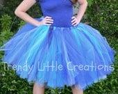Woman tutu - Adult Tutu - Ladies Tutu - Teen Tutu  - tutu skirt - tulle skirt - SEWN tutu- Blue Tutu - Bridesmaid Tutu - Bridal Shower Skirt