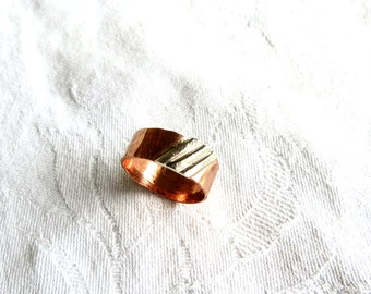 Wide Ring, Lines, Diagonal, Gift for Her, Rustic Ring, Wedding Band, Thumb Ring, Hipster, Bohemian,