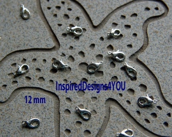 925 Silver Plated Lobster Clasp, Jewellery Findings Commercial Jewelry Supplies.