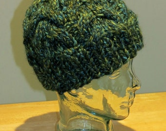 Hand Knit Winter 'Marina' Cable Beanie Hat