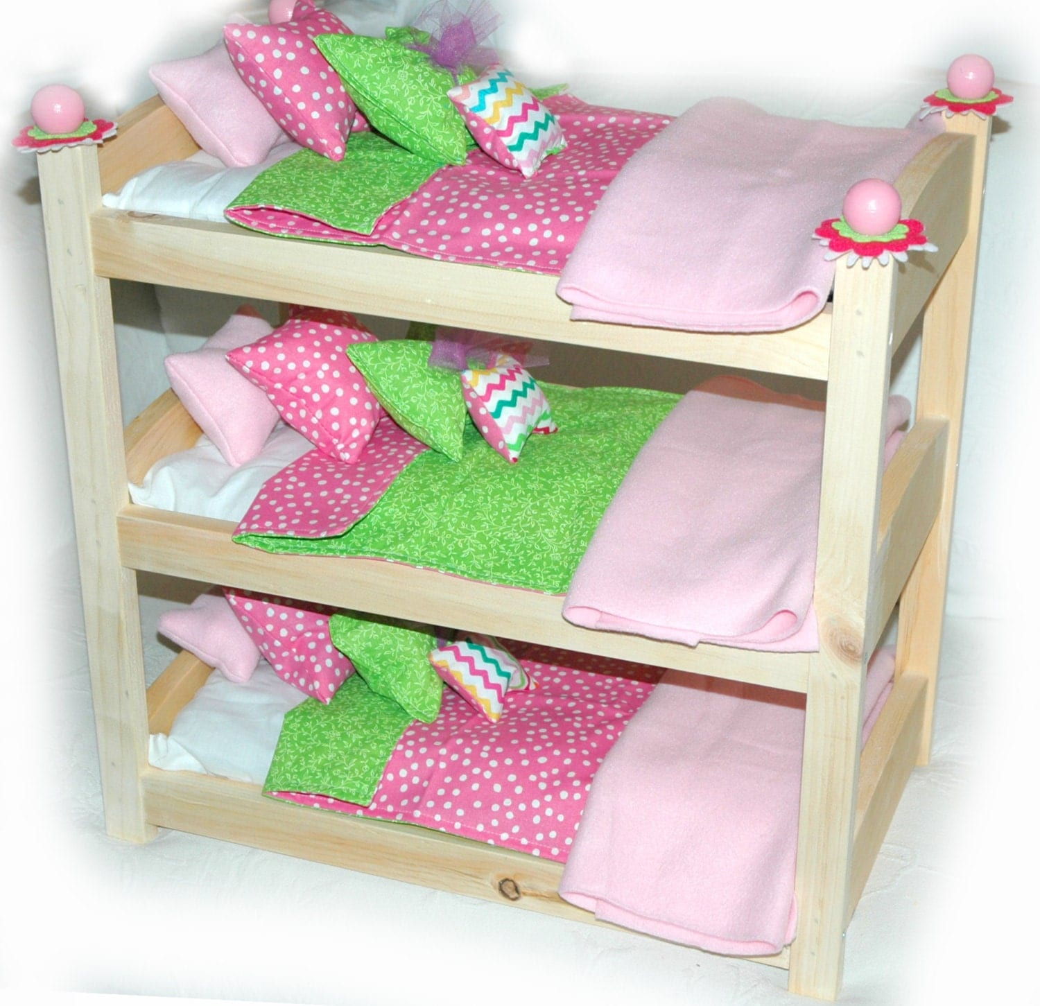 Bunk Bed Dolls: Triple Doll Bunk Bed Cotton Candy American Made Girl Doll
