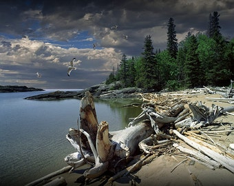 Hattie's Bay in Pukaskwa National Park in Ontario Canada along the North Shore of Lake Superior - A Wilderness Landscape Photograph
