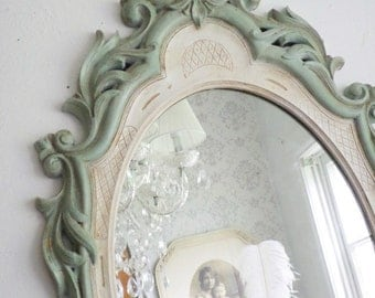 B E A C H Cottage Mirror Ornate Shabby Chic French Cottage