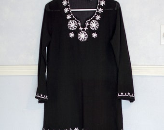 sheer layering dress/blouse/swimsuit cover up size medium