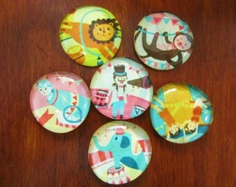 MoRe CIRCUS MAGNETS Glass Bubble Magnets Full of Fun for All Ages Set of 6