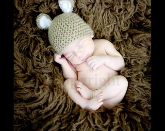 Newborn Easter Hat, Baby Bunny Hat, Newborn Bunny Hat, Baby Easter Bunny Hat,  Baby Crochet Hat PHOTO PROP