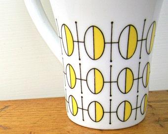 Vintage Mid Century Modern Stylecraft Coffee Cup Geometric Design