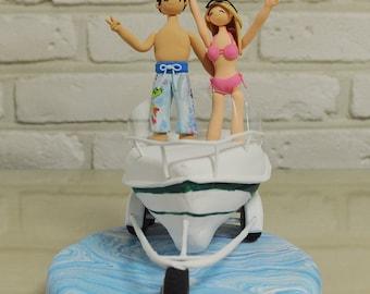 Boat beach theme wedding cake topper