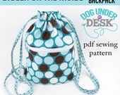 Bigger on the Inside Drawstring Backpack PDF Sewing Pattern