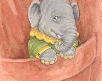 Elephant Pocket Pal 5x7 Print