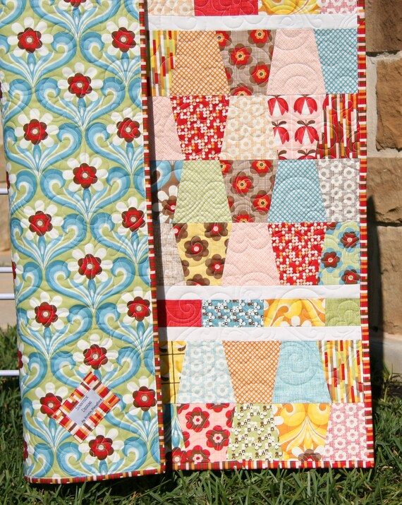 Baby Quilt Tumbler Pattern Boho Moda Fabrics Designer Crib