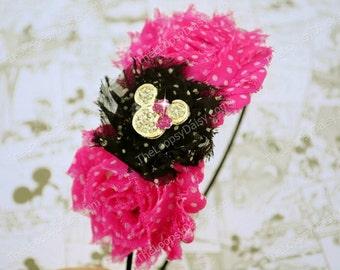 Pink Minnie Mouse Headband, Minnie Mouse Birthday, Minnie Mouse Bow Pink, Minnie Mouse tutu, Minnie Mouse Costume, Pink Minnie Mouse Dress