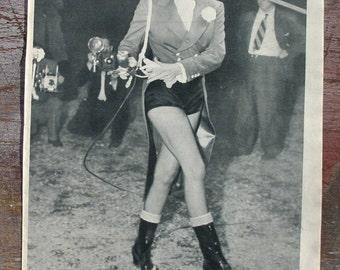 Marlene Dietrich as Barnums Circus Ringmaster Vintage Photograph 1950s Paris Match