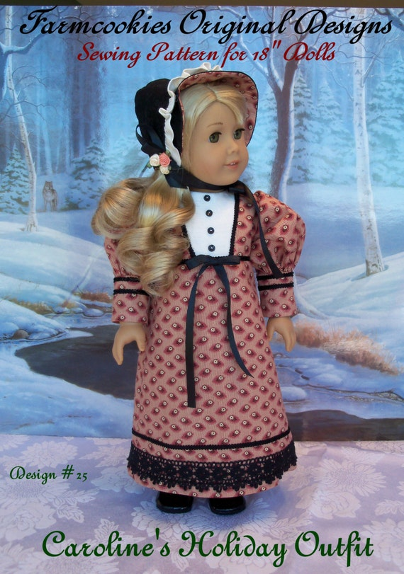 PRINTED  Sewing PATTERN /Caroline's Holiday Outfit / Clothes That Fit American Girl ®Caroline or Josephina