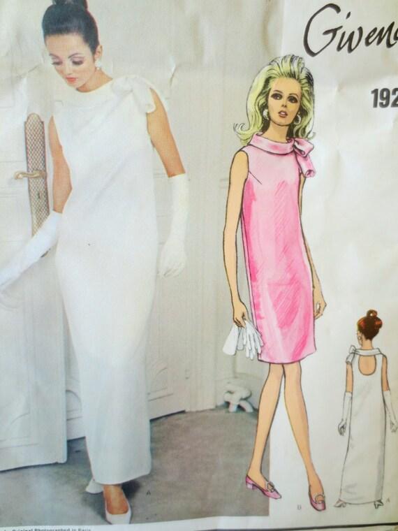 Patron de couture vintage Vogue 1921, patron de robe des années 60, robe  Givenchy