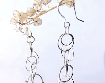 "Sterling Silver earrings ""Rings""."