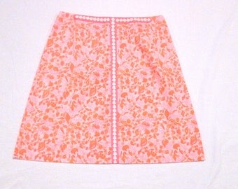Lilly Pulitzer Skirt Vintage Ocean Seashell The Lilly A Line Skirt 1970s 1980s Shells Skirt Sportswear 30 waist Authentic Signed Preppy