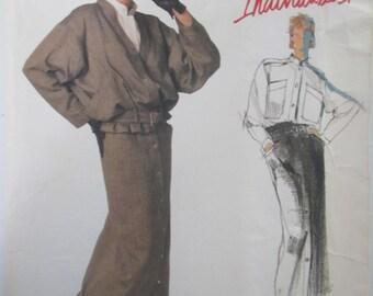 Vogue Individualist 1437 Danny Noble Women's 80s Jacket Shirt Skirt & Belt Sewing Pattern Bust 32
