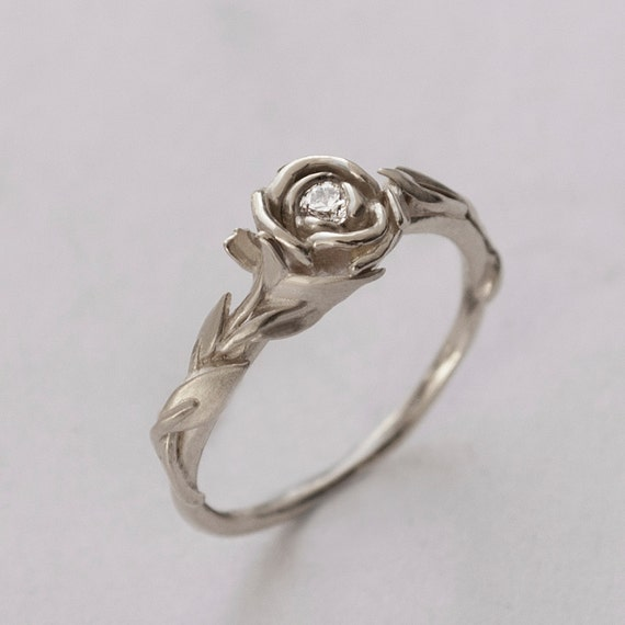 engagement ring no 2 14k white gold and
