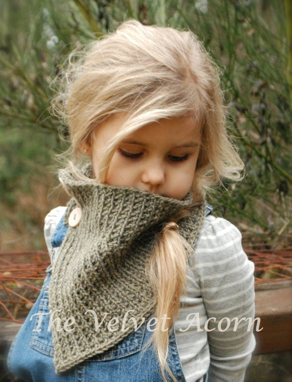 KNITTING PATTERN-Berlyn Cowl Toddler Child and Adult sizes