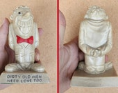 "Vintage 60s Russ Wallace BERRIE Co. 'Dirty Old Men Need Love Too' Gag Gift Birthday 5"" Sillisculpt Novelty STATUE Statuette Figurine"