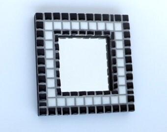 Black and White Mosaic Mirror