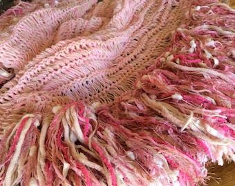 Girls Room Decor Girls Room Pink and Cream Blanket, Girls Decor Birthday Gifts for Girls, Gift for Girl Toddler or Childrens Gift