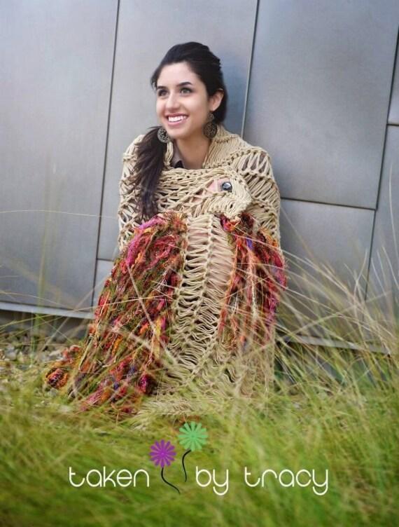 Native American Southwest Blanket Afghan Throw Can Wrap Around Shoulders Like Tribal Desert Poncho