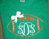 MONOGRAM Football Shirt - Sports - Team - Coach - Custom Shirt - Jersey