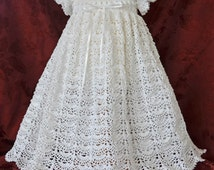 White Christening / Blessing Gown with White Cotton Slip - 3 - 6 Months - READY TO SHIP - 13130-G