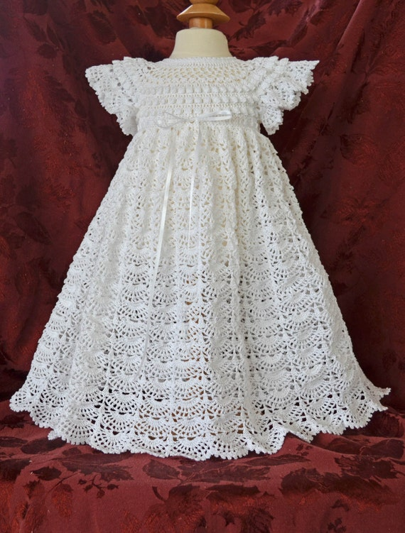 White Christening / Blessing Gown, Slip, Bonnet, Booties & Headband - MADE TO ORDER 052614