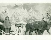 "Vintage Photo Postcard ""Santa's Helper"", Photography, Paper Ephemera, RPPC, Old Photo, Collectibles - 0180"