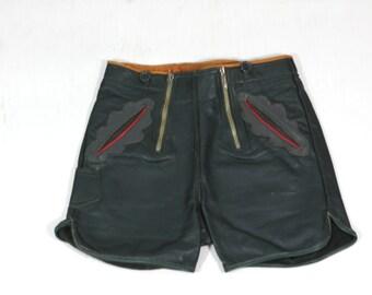 Hot Heidi Leather Shorts Vintage Leather Hot Pants Lederhosen xxs xs