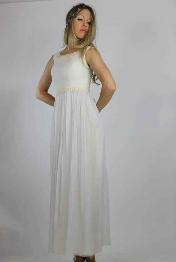Vintage 60s wedding dress sweet forest bride by for Forest wedding dress vintage