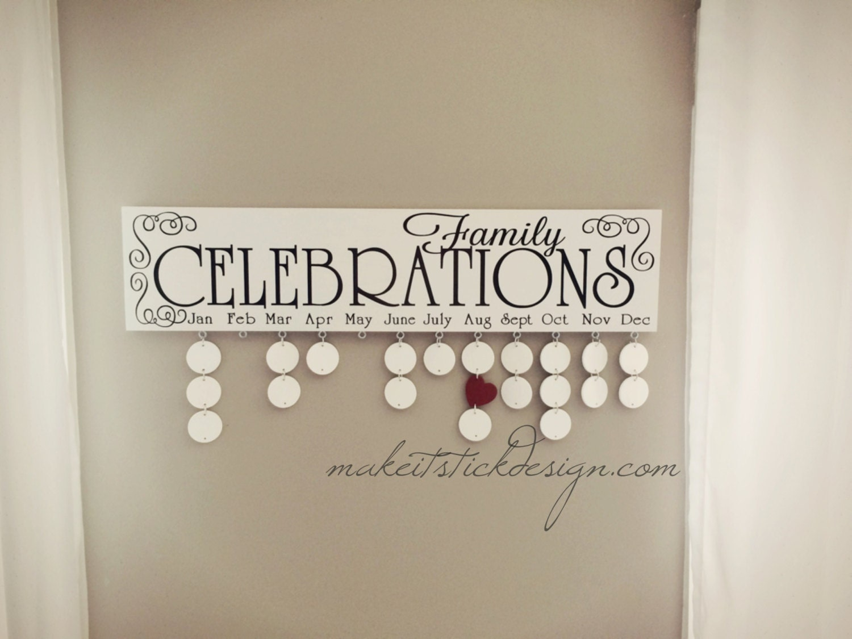 Family Celebrations Plaque Family Celebrations Board