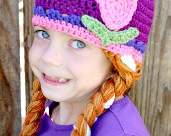 Ice Princess Crochet Hat -- Made to Order