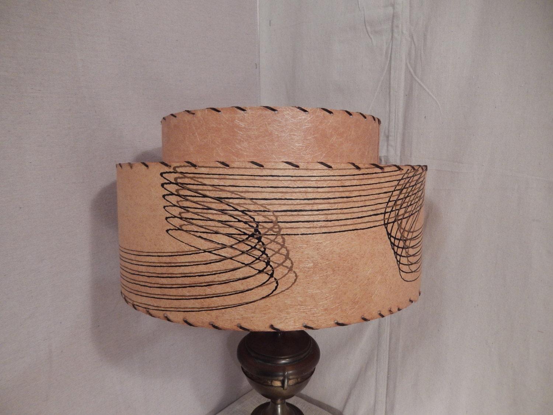 fiberglass shade mid century lamp shade 2 by bluejeanjulie. Black Bedroom Furniture Sets. Home Design Ideas