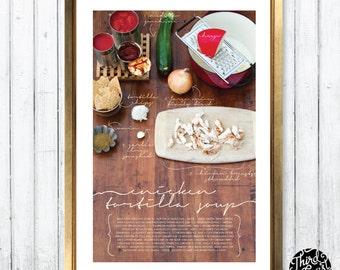 Chicken Tortilla Soup Recipe Art Print