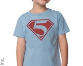 5th Birthday Shirt - Superhero Man Birthday Party - 1st, 2nd, 3rd, 4th, 5th Birthday Shirt (any number works for us) - Personalized Shirts