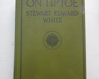 Vintage Novel On Tiptoe by Stewart Edward White, Hardcover from 1922 in Good Condition