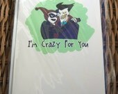 Harley Quinn Joker Crazy For You Card