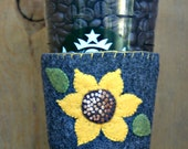 Sunflower Felt Cup Cozy