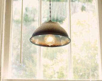 Ombre Pendant Lamp - Mid Century Ceramic Hanging Pendant Lamp