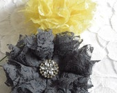 Lace Fabric Flowers - Country Chic Wedding - Country Wedding Bouquet - Rustic Wedding Decor - Lace Flowers - Southern Wedding Bouquet