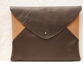 Custom Mens Leather Bags, Leather Laptop Case, Leather Bag, Laptop Bag, Envelope Style