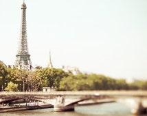 Paris photography, Paris Art, Eiffel Tower - Bon Jour, Paris! 8x8